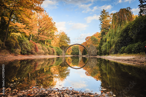 canvas print picture Rakotzbrücke - Spiegelsee