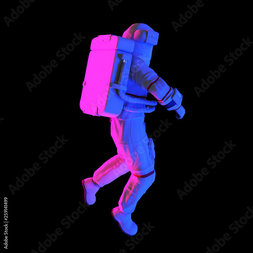 3d rendered abstract rendering of an astronaut © Sebastian Kaulitzki