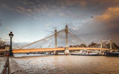 London- Albert Bridge between Chelsea and Battersea