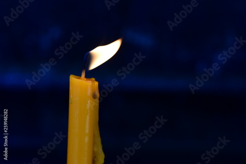 Candle light for worship, sacred things and Buddha images © tharathip