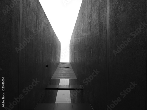 black and white architecture building design © srckomkrit