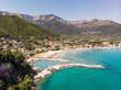 Thasos Golden beach near Chrisi Akti town in Thasos Island, Greece