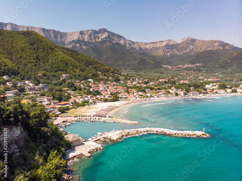 Thasos Golden beach near Chrisi Akti town in Thasos Island, Greece - 259158831
