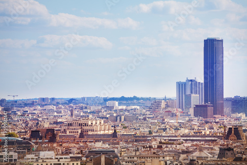 View of the Paris Montparnasse district and tower © Sergey Novikov