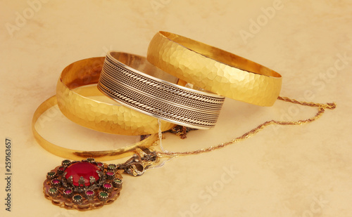 gold and silver jewelry © Kybele
