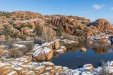 Fototapeta Fototapety z naturą - Watson lake Prescott Arizona Winter Landscape © natureguy