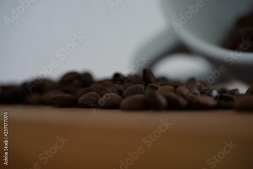 Kaffeetasse mit Kaffeebohnen © Conny Kämmerer
