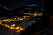 canvas print picture - Das Dorf in der schwärzesten Nacht