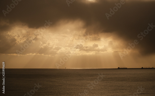 sea sky and sunset background image