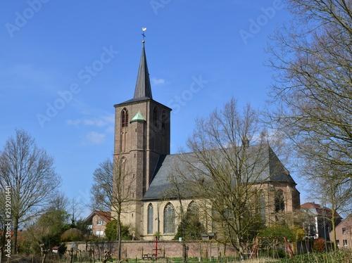canvas print picture St. Peter, Kirche in Brüggen-Born