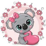 Cute Cartoon Koala with heart