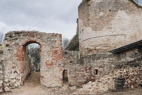 ruins inside of old castle