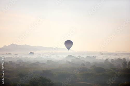 Hot air balloons fly over Bagan © BlueOrange Studio