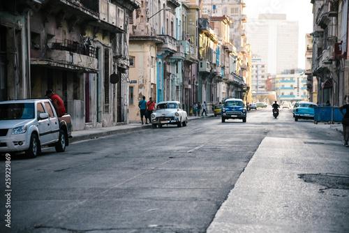 Vintage Car Driving in Havana, Cuba