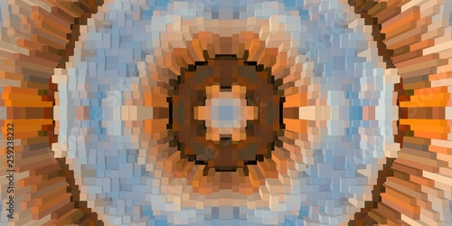 Cube 3d extrude symmetry background,  abstract ornament. - 259238232