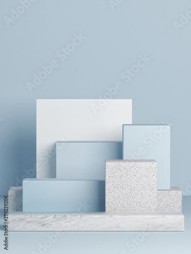 Mock up podium, abstract background, copy space, 3d illustration, 3d render