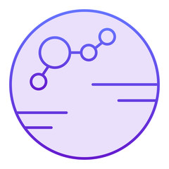 Colonized planet flat icon. Colony violet icons in trendy flat style. Planet gradient style design, designed for web and app. Eps 10.