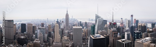 Daylight panorama of New York from the Top of the Rock  - 259243057