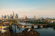 Cityscape image of Frankfurt am Main skyline during beautiful morning.