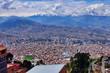 canvas print picture - View over La Paz in Bolivia
