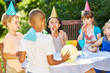 Party in Kindergarden in summer