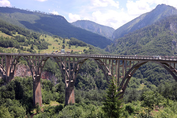Djurdjevic bridge Tara river canyon landscape