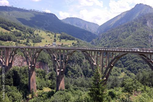 Djurdjevic bridge Tara river canyon landscape