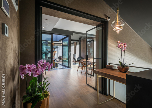 Leinwandbild Motiv Interior of modern luxury penthouse apartment