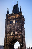 Old town tower at the end of Charles bridge, Prague, Czech Republic