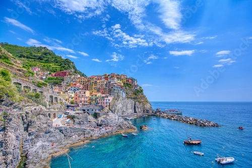 Manarola is a beautiful small town in the province of La Spezia, Liguria, north of Italy and one of the five Cinque terre.