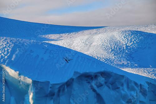 canvas print picture Blaue Eiswelt in Grönland