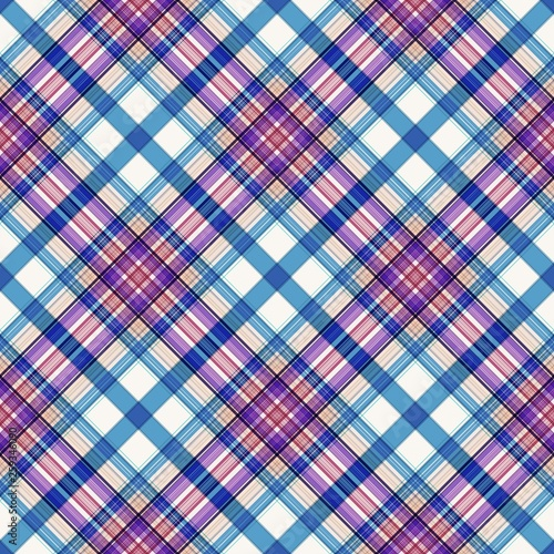 Stripes background, square tartan, rectangle pattern seamless,  celtic fashion. - 259346090