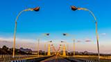 Beautiful bridge with blue sky background