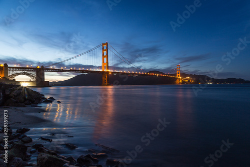 One night at the Golden gate bridge - 259359273