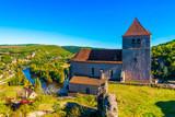 Fototapeta Fototapety z naturą - Saint Cirq Lapopie dans le Lot en Occitanie en France © Fred