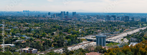The landscape of Los Angeles and Beverly Hills