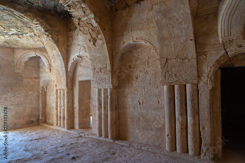 Inside the Castle Qasr Al-Kharanah in Jordan © arkady_z