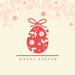 Floral ester egg - Happy Easter greeting card. - 259400091