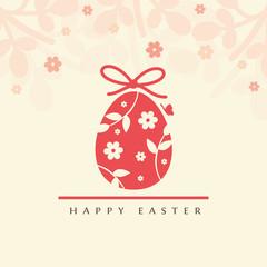 Floral ester egg - Happy Easter greeting card.