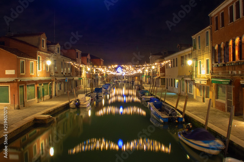 canvas print picture Murano bei Nacht
