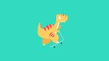 Fototapeta Dinusie - Dinosaur posed on scooter flat vector illustration © Felipe