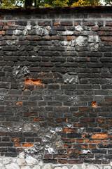 Mur z cegieł i kamienia