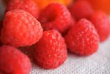 Group of Red Raspberries
