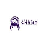 Jesus Christ Vector. holy week logo