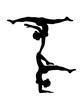 canvas print picture - turm crew 2 turnerinnen team freunde gymnastik frau yoga sport turnen ballette mädchen weiblich silhouette logo clipart verein