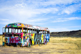 Fototapeta Teenage - Graffiti bus © Danielle