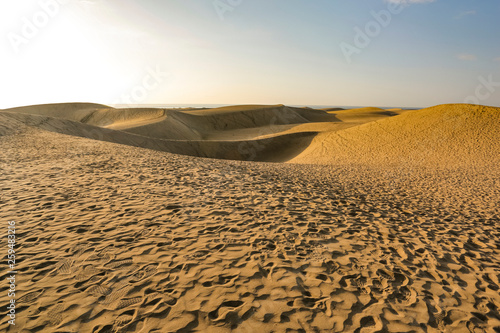 Gran Canaria island landscape of sand on beach