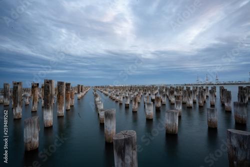 old pier at sunset © Mariia