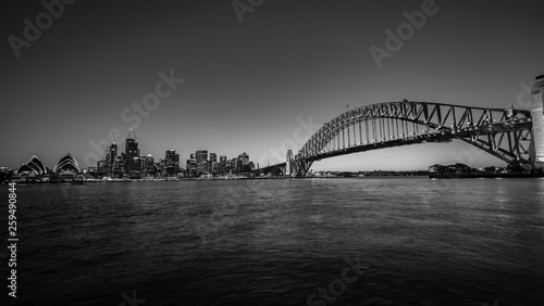 Sydney City Black and White
