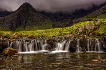 Fairy Pools waterfall in Scotland